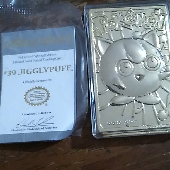 #39 Jigglypuff Pokemon limited edition